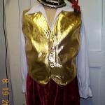 Christmas elf gold vest