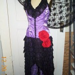 Flamenco purple black lace