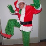 Grinch as Santa